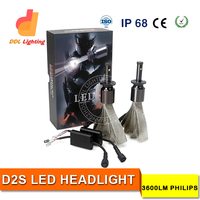 D2S led AUTO car Led Headlight 12v 24W fanless fog light car headlight manufacturer