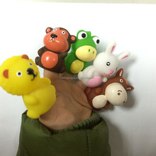 Promotion Gifts And Toys For Kids 10 Animals Designs Soft Plastic Finger Puppet