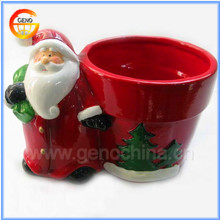 High quality hand painted christmas decorative terracotta flower pots
