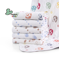 MIKAQI Pure cotton six-layer gauze baby blanket Baby gauze square bath towel Baby hold quilt