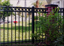 Cheap Faux Horizontal Flat Top Wrought Iron Fence for Sale