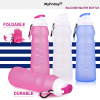 Silicone Foldable Water Bottle For Travel And Sports Nutribullet Cup