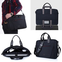 Guangzhou Supplier Leather Laptop Messenger Bag With Trolley For 15-17 inch