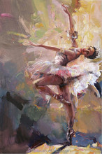 Sex hot beautiful girl oil painting ballet dancer painting wholesale