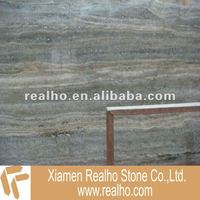 Polished Silver Travertine Marble Slab