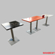 high end orange single solid surface stainless steel home restaurant dining table