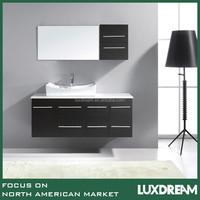 Single Vessel Sink Wall-mounted Vanity with Phoenix Stone Top
