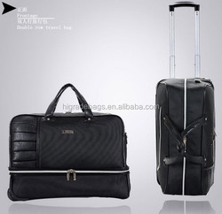 luggage bag, luggage trolley
