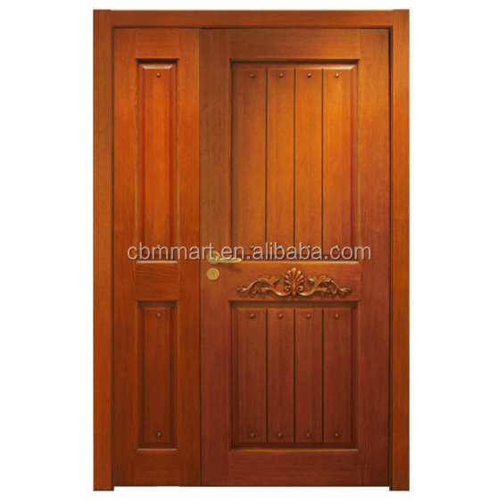 European Wooden Arched Double Front Entry Door Interior