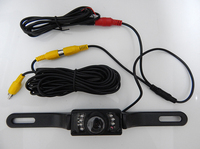 Waterproof License Plate Frame Camera 8 IR Night Vision LED CMOS Auto Parking Rear View Backup Camera