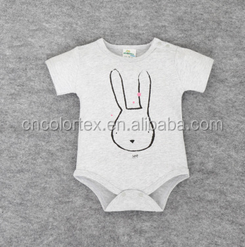 Baby unisex cotton short sleeve onesie with printing