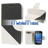 Stylish Double Color Magnetic Flip Stand Wallet Leather Case for Samsung S7392 Galaxy Trend Lite S7390
