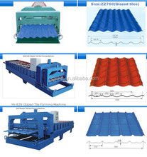 Full automatic PPGI/GL Steel Profile Glazed Tile Roofing Ridge Roll Forming Machine