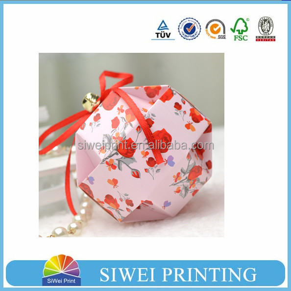 China factory recyclable ball shaped chocolate candy box