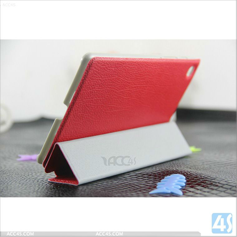 Litchi Grain Three Folding Folio Stand Leather Case for Google New Nexus 7 2nd P-GGNEXUS7IICASE022