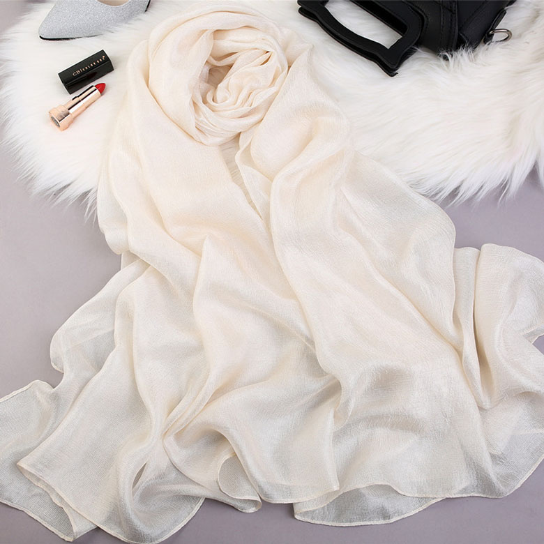New Fashion Silk Luster Color Solid Dutch Linen Long Cotton Linen Plain Solid Color Scarf
