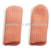 Elasticated stockinette gel silicone tube Corn silicone finger guard