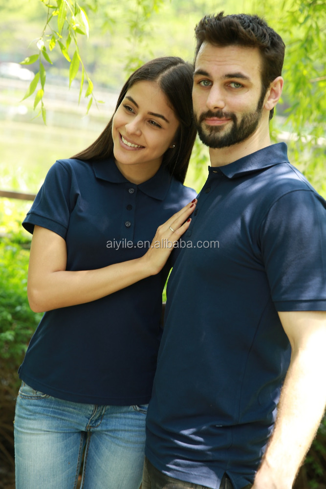 Man and Woman Fashion New Uniform in Office Polo Shirts