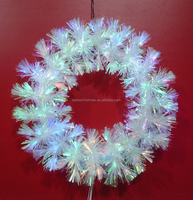 Rainbow Leaf Fiber Optic Christmas Wreaths