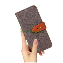 Wholesale dual color folio leather wallet phone case for samsung s9