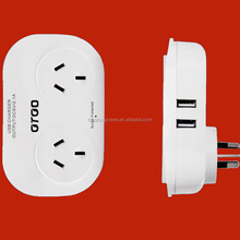 USB port Alibaba factory supply SAA Australia 6 outlet individual switch Power strip with USB Port