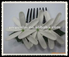 2012 Hair Frangipani Plumeria hawaiian foam flowers with clips