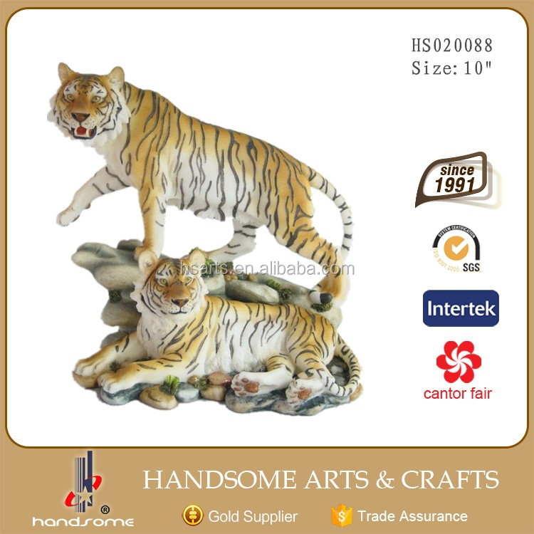 11 Inch Resin Home Decoration Realistic Animal Tiger Statues
