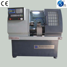 High profile Swing over bed(mm) 300 CK6125A cnc lath machine with Vertical milling drill