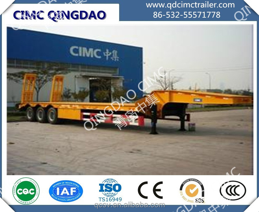 CIMC brand 3 axle Low bed low-bed semi trailer Trailer truck