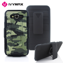 IVYMAX China supplier wholesale price shockproof printing Robot case with holster for galaxy J7