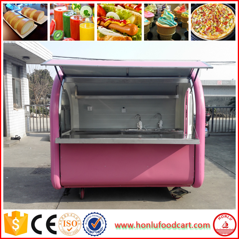 order and go mobile fast food car / china food cart / mobile food truck