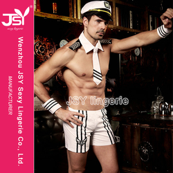 Mens Captain Navy Uniform Sexy Sailor Cosplay Hot Selling Sexy Sailor Costume