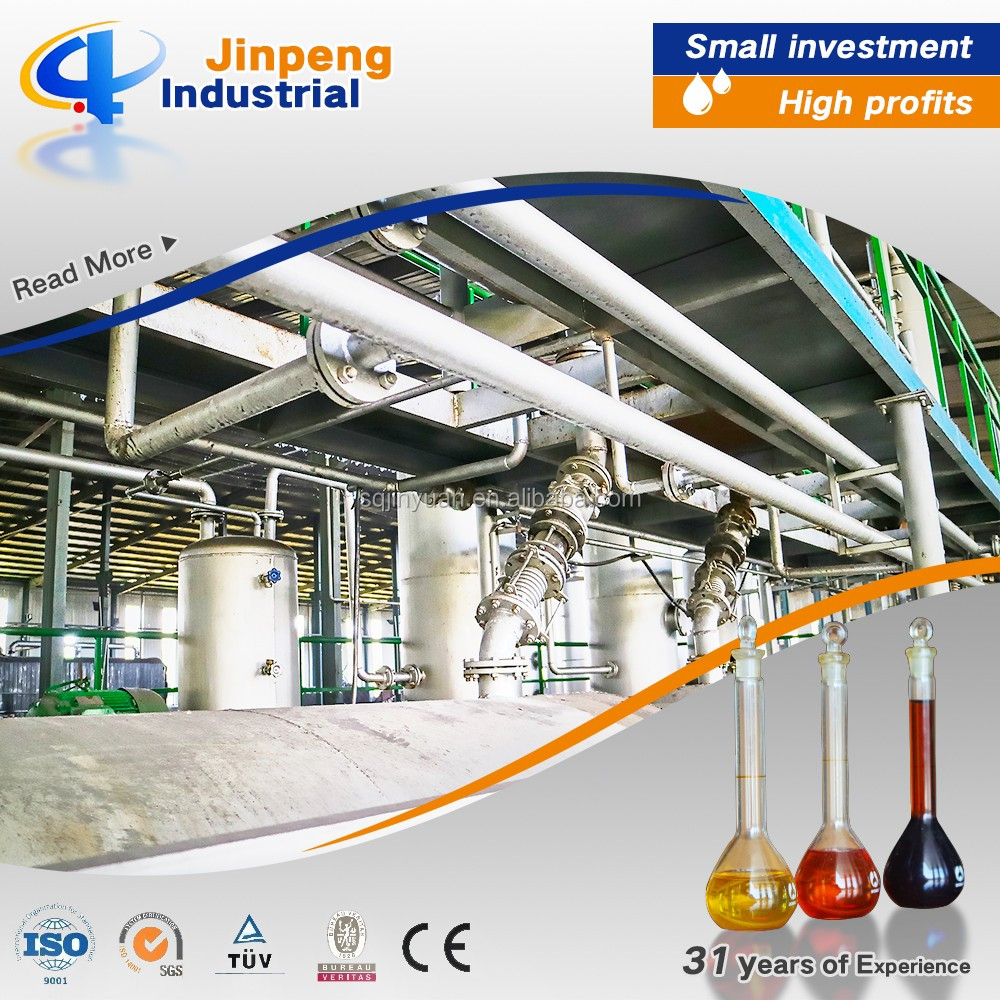 Clean and Dust Free Energy Saving Machine Pyrolysis Oil Refining System