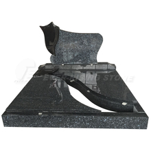 Blue Pearl Granite French Style Funeral Monument