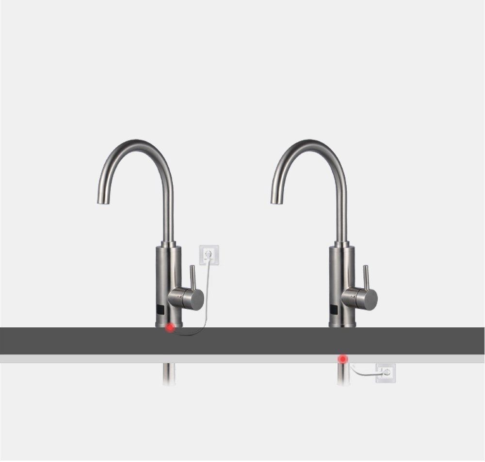 CE ROHS ERP Certification Full 304 Stainless Steel electric instant hot water temperature display heating faucet