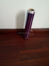microwave safe purple color PVDC food grade cling film