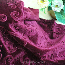 China Wholesale embossed flower pattern polyester spandex fabric for garment fabric