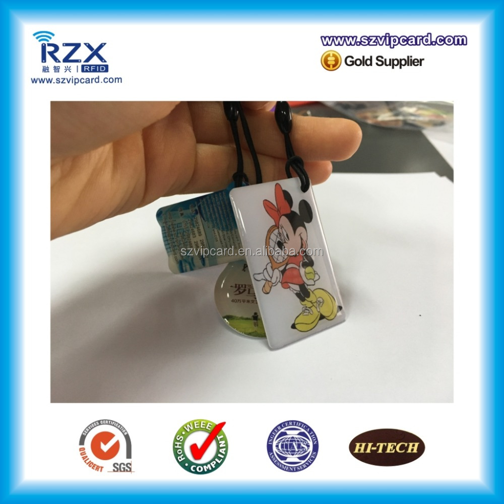 TK4100 125KHz RFID access control key tag for door security system