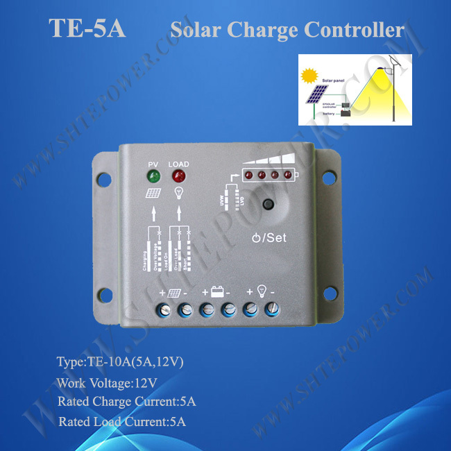 5A 12V solar charge controller micro PWM solar regulators/controllers