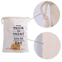 Latest new design Halloween treat or trick Drawstring Bags Pumpkin Spider Tote Personalized Candy Gifts Bag