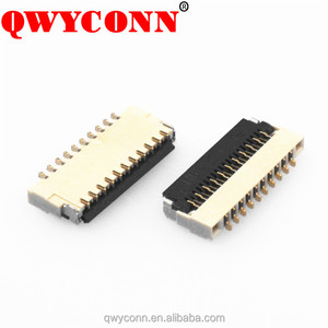 0.3mm Pitch Front insert back lift Gloden flash SMT ZIF type H0.9 9-61P FPC/FFC connectors