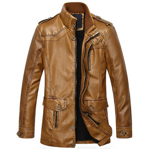Express Heavy Winter Woodland Leather Jacket For Men Made In Italy