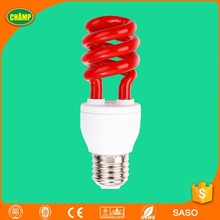 T3 E27 Red Spiral Energy Saving Bulb light