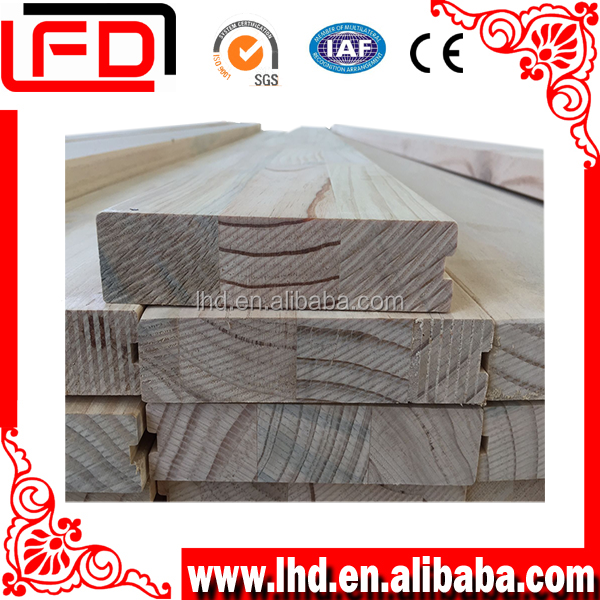 Pine wood door frames, window frames for high quality