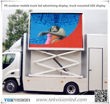 P6 SMD outdoor mobile truck led advertising display, truck mounted LED display