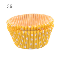 #136 BAKEST greaseproof wholesale laser cup cake wrapper