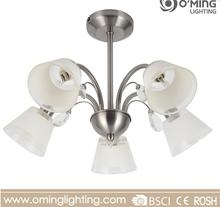Classic bedroom glass chandelier led flower suspended ceiling light fittings