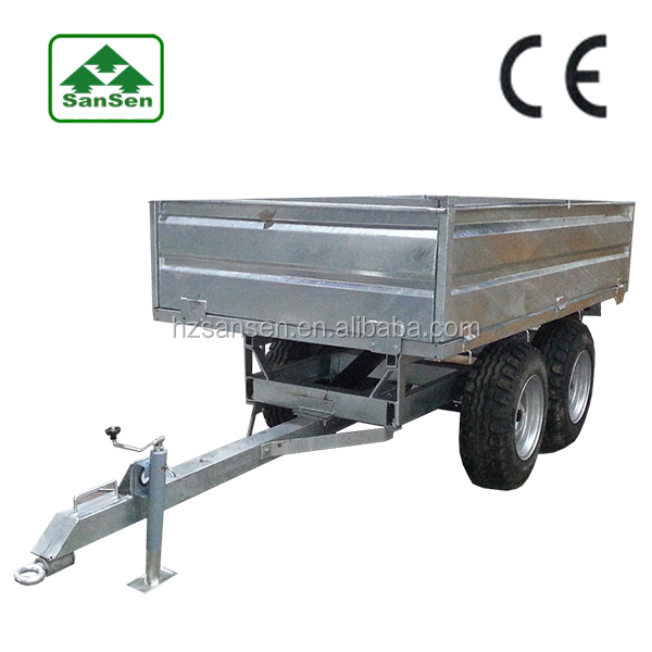 Hot Dip Galvanized Small Dump Trailers Good Quality European Style Trailer