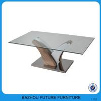 special leds coffee table with clear glass top
