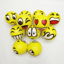 2018 promotional children toy Customized logo squeeze emoji PU stress ball, antistress ball , PU foam ball